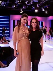 A expert em Moda e ex-modelo Cláudia Métne e Gilmelândia, que substitui Luciana Gimenez, temporariamente
