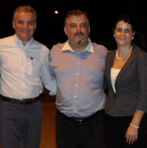 Deputado Estadual Samuel Moreira, Secretário de Turismo do Estado de São Paulo, Márcio França e a prefeita de Peruíbe, Milena Bargieri Migliaresi