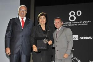 Elcio de Lucca, Presidente do Conselho Superior MBC, Helia Mendes e Alexandre Teixeira, Secretário Executivo do Desenvolvimento e Indústria do Comércio Exterior