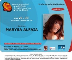 Flyer virtual do show de Marysa