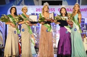 Miss África do Sul (5º lugar), Miss Austrália (3º lugar), Miss Brasil (1º lugar), Miss Coreia (2º lugar) e Miss Rússia (4º lugar)