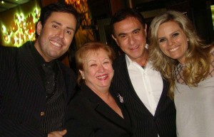 Evandro Hazzy, Vera Martins, Amaury Jr e Maria Cândida