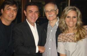 Carlos Alberto Azevedo, Amaury Jr, Laney Langaro e Maria Cândida