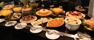 A mesa de sobremesas