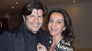Cantor Paulo Ricardo e a produtora de moda, Cláudia Métne