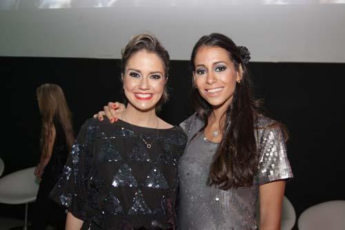 No Cerimonial , Bruna Calmon, do programa Reclame (Multishow), e Carolina Goés, de Feiras e Negócios (TV Gazeta)