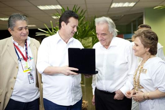 Antonio Zimmerle, prefeito Gilberto Kassab, homenageado Maestro João Carlos Martins e Alda Marco Antonio