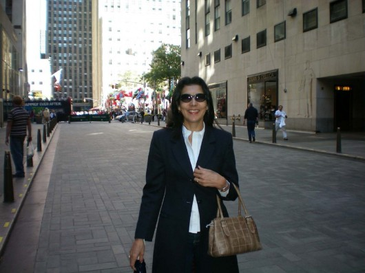 Lucia Fernandes em Nova York