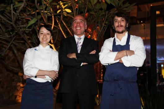 Ligia Karazawa, Marcelo Fernandes e Raul Jiménez