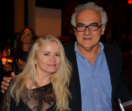 Arilda Costa McClive e o escritor amazonense Milton Hatoum, prêmio Life time