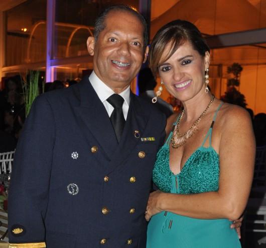 Capitão Major Antonio Luiz Barbosa e sua senhora, Dra. Claudia Torres