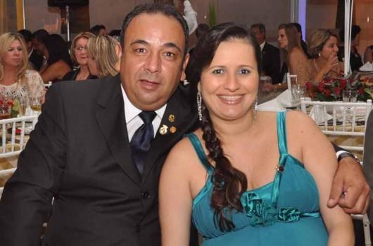 O presidente da Federação Alagoana de Vela e Motor, Otávio Lima Leite, e sua senhora, Ana Paula Ribeiro
