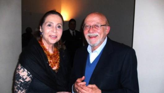 Adelina Alcântara Machado da OBME e o ex-governador de São Paulo, Alberto Goldman
