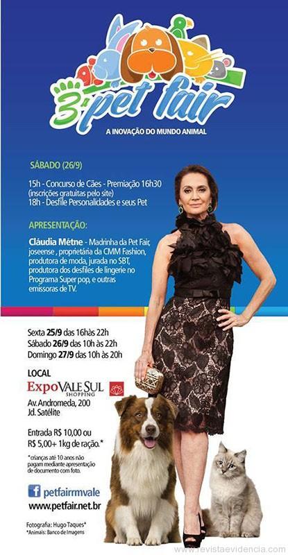 Cartaz com a convidada vip Cláudia Métne (foto: Hugo Taques)