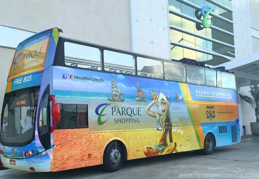 Free Bus turístico de verão do Parque Shopping volta a circular na orla da Maceió