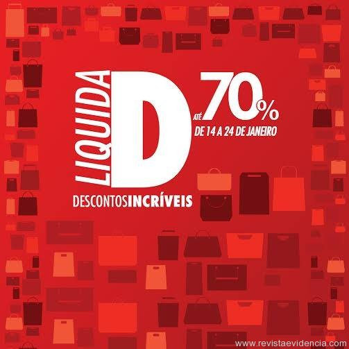 Shopping Pátio promove primeira 'Liquida D'