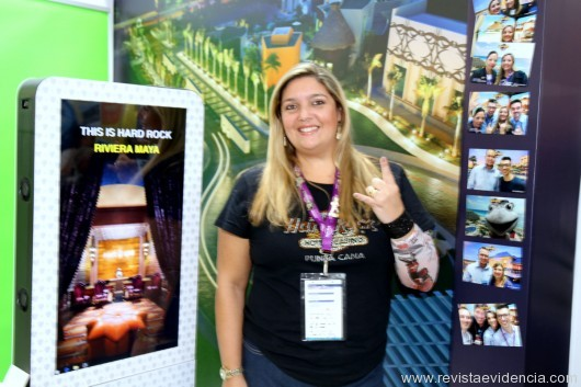 Dos Hotéis Hard Rock Caribe, a diretora de vendas Brasil Carla Cecchele.