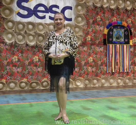Esta colunista Wilma Vicky França foi prestigiar o Arraial do Sesc Turismo