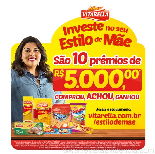 Promoção do Dia das Mães da Vitarella distribui dez prêmios de R$ 5.000