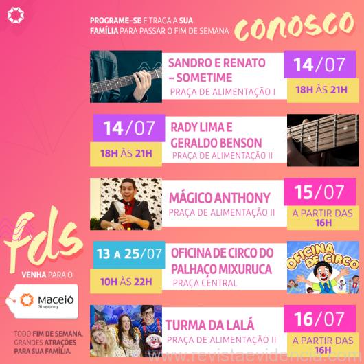 Final de Semana de entretenimento e cultura