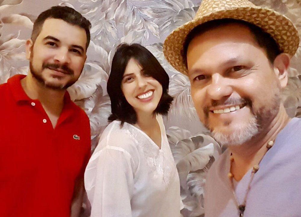 Grupo Sotaques: Rômulo Melo (PE), Renata Finotti (SP), Jan Cláudio (AL)