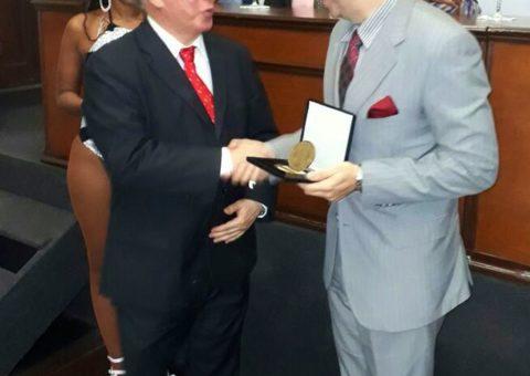 Helcio Hime e o Presidente da Academia Brasileira de Filosofia