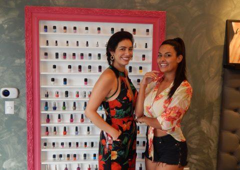 A empresária Michelle Vargas e a bailarina do Faustão Yanca Guimarães