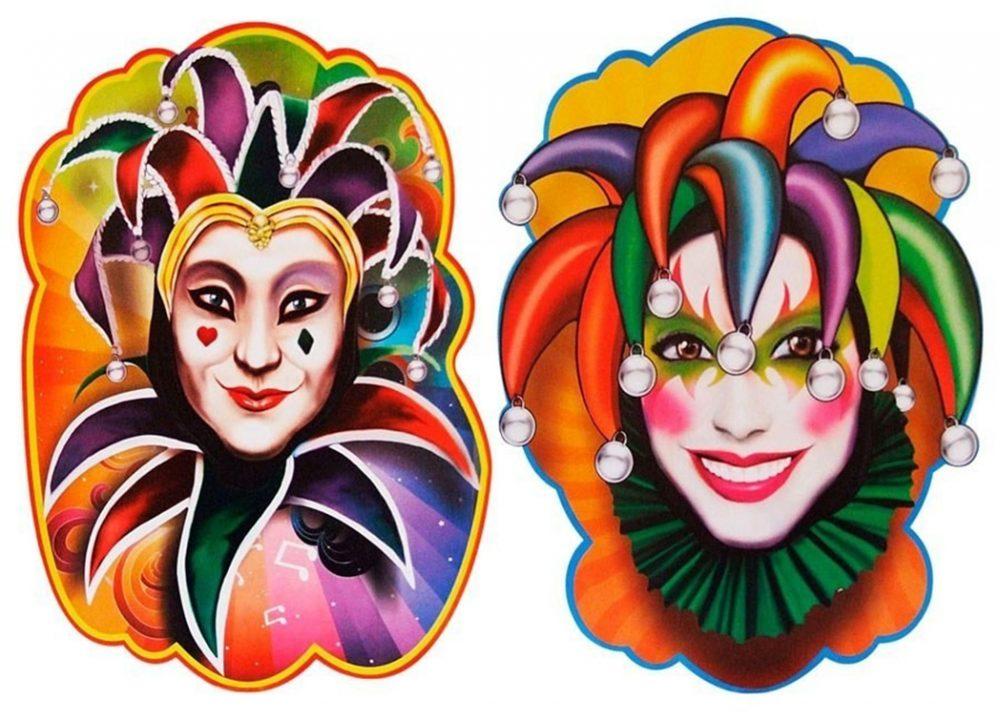 Imagem: Internet - Painel decorativo Salão de Carnaval, Pierrot e Colombina
