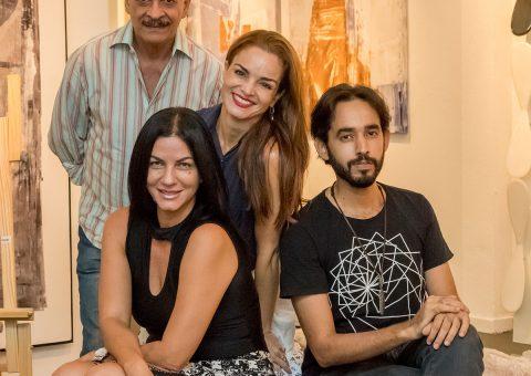Juliana Almeida, Rafael Almeida, Vera Gamma e Rogério Gomes (Foto: Edson Oliveira)