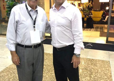Benedito Braga, presidente do 8º Fórum Mundial da Água, ao lado de Pércio Mello Jr, Gerente de Vendas do Meliá Brasil 21