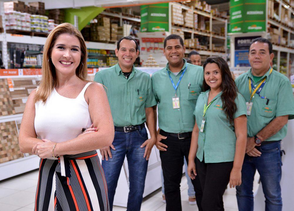 Consultora Manu Toledo e equipe Carajás (Foto: Flávio Carvalho)