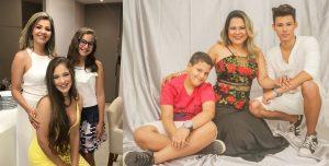 (esquerda) Arquiteta Cris Nunes e as filhas Beatriz e Mel Lins; (direita) Dentista Lenalda Bezerra e os filhos, Pedro Victor e Gabriel Lucas