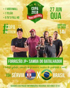Trem das Onze - Servia x Brasil