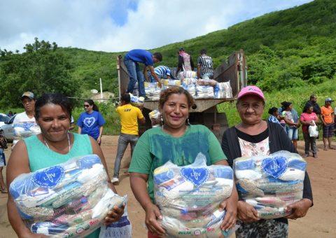 Famílias Zona Rural de Alagoas serão assistidas pela LBV com cestas de alimentos