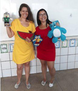 Alunas de Pedagogia CESMAC - Catarina Barros e Katiane Lopes - Projeto Semente de Iniciação Científica (PSIC) A Transversalidade trabalhada a partir das Histórias em Quadrinhos