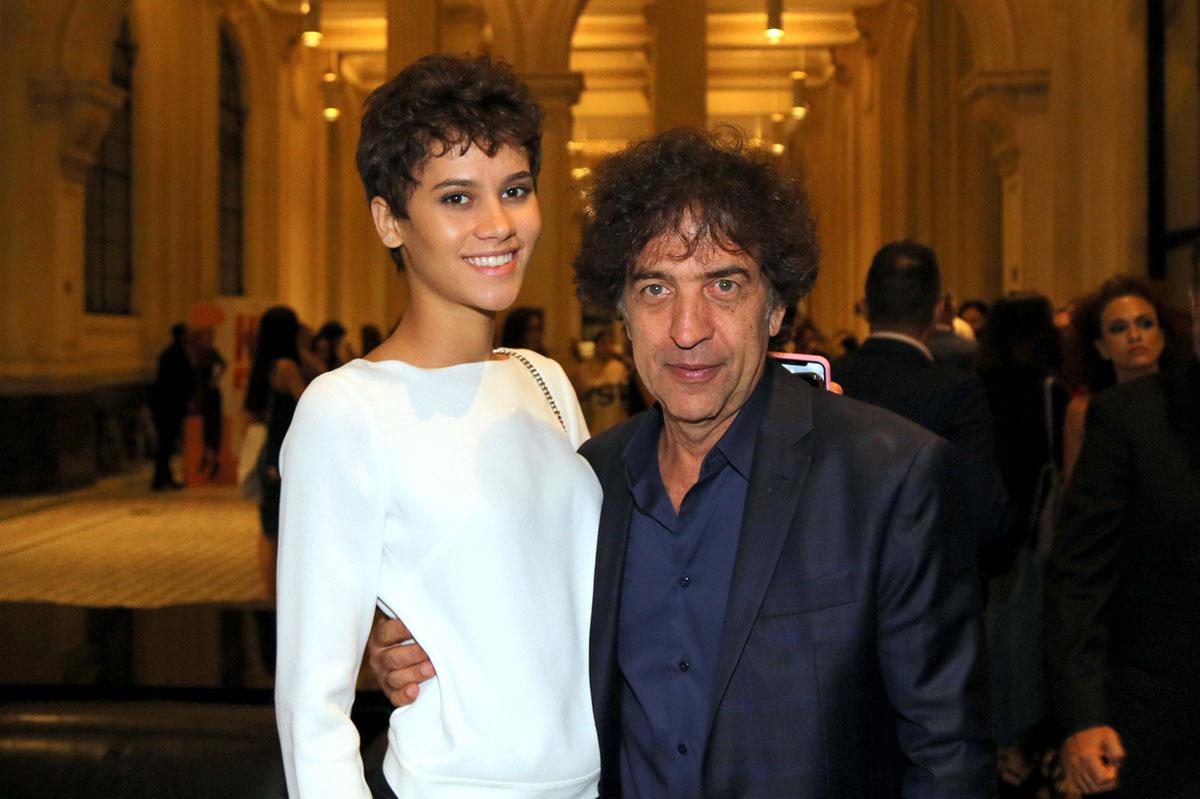 A modelo Kaisla Bittencourt e o estilista, Ricardo Almeida