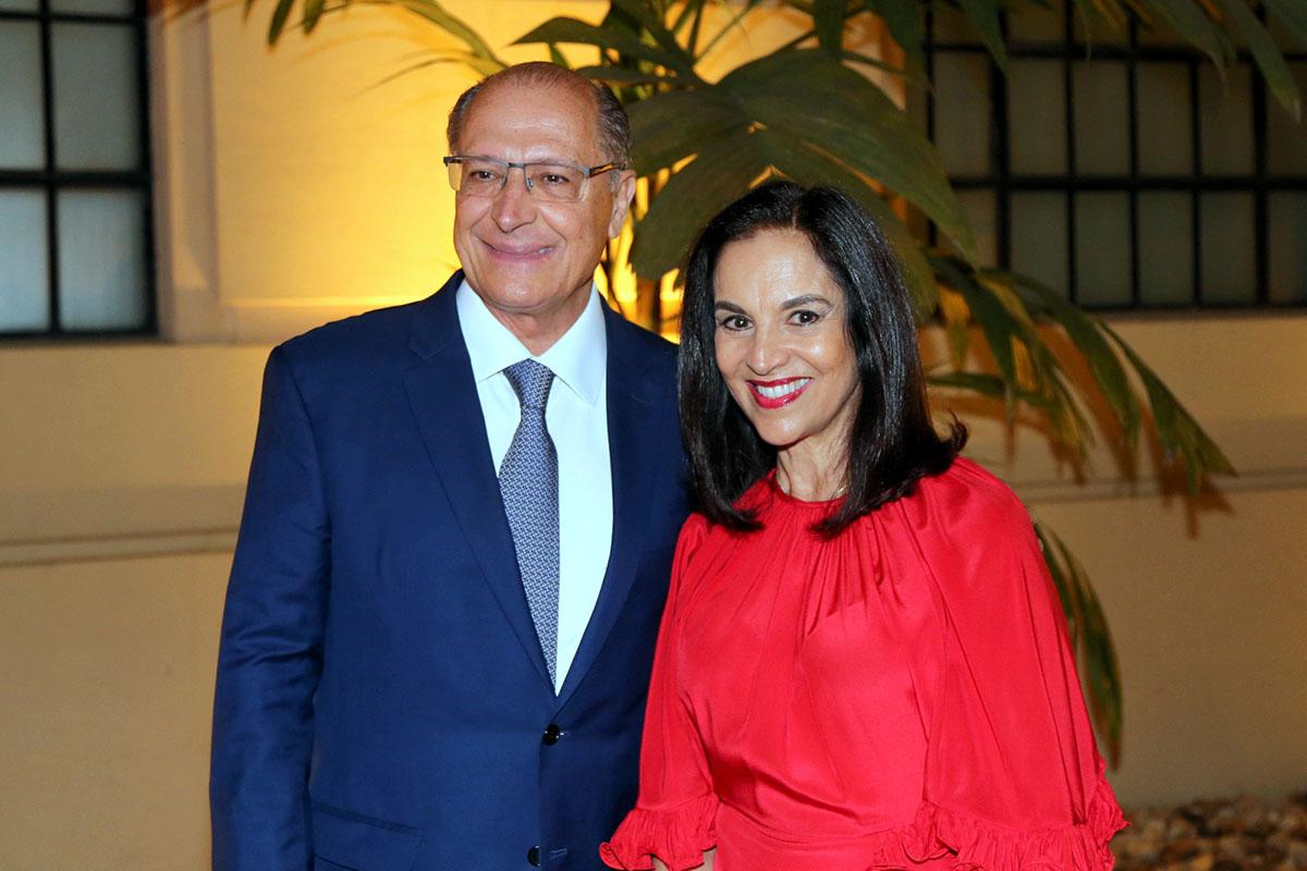 Também adoraram o filme, o casal ex-governador de São Paulo Geraldo e Lu Alckmin