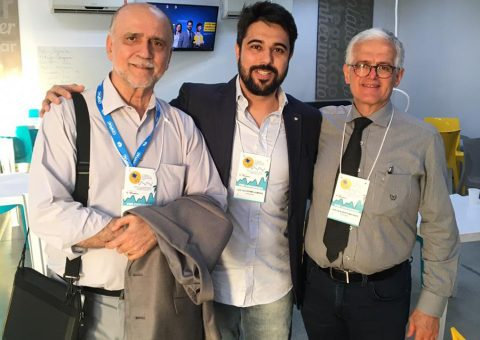 Dr Marco Mota, Dr Luiz Guilherme e Dr Carlos Alberto Machado, Coordenadores do XVI Congresso do Departamento de Hipertensão Arterial da Sociedade Brasileira de Cardiologia