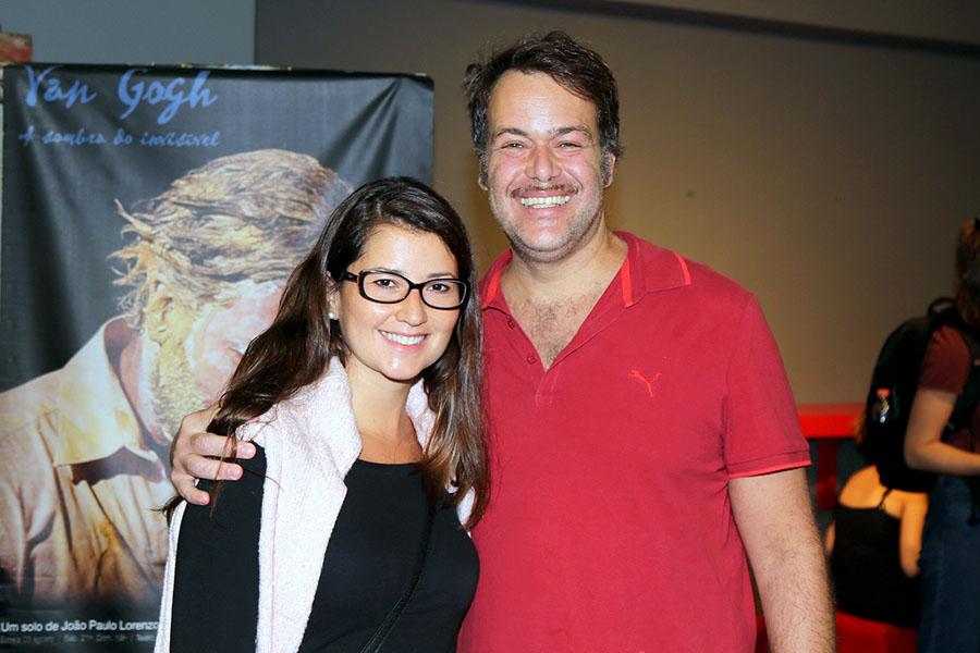 O diretor e produtor de teatro, Léo Stefanini e Adriana Grzyb