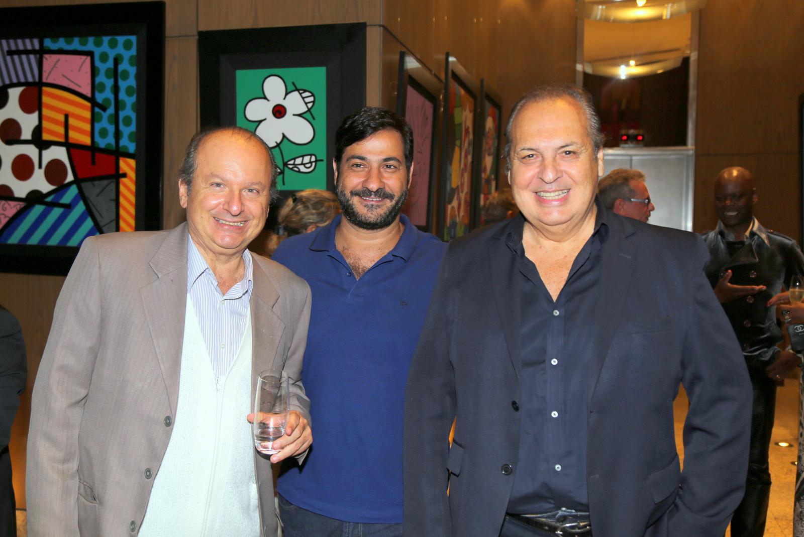 O jornalista Ovadia Saadia e o presidente do WTC, Bruno Bomeny e o empresário, Vivaldo de Andrade