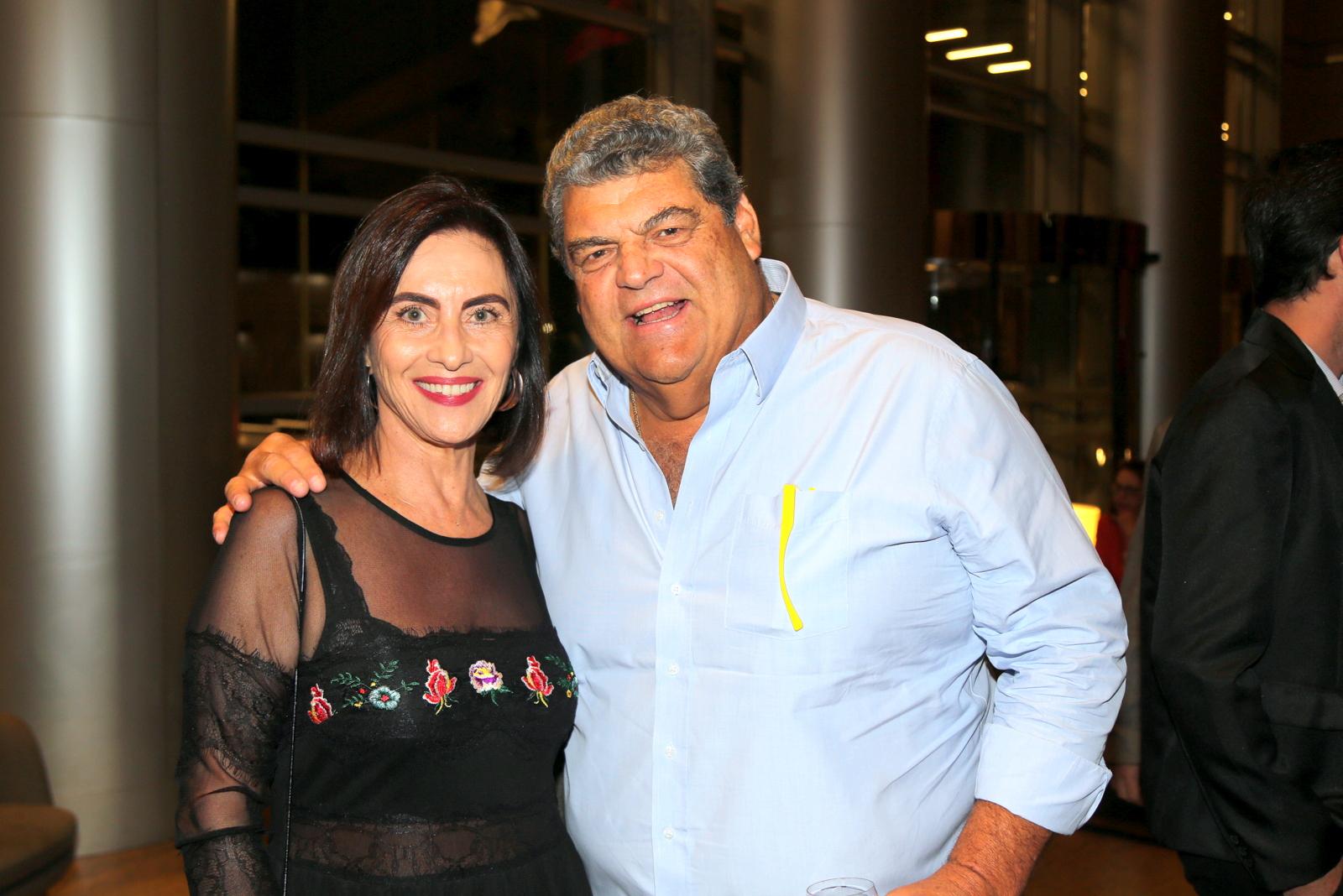 No evento diretamente da Paraíba, Claudia Librach e o empresário Anésio Fassina