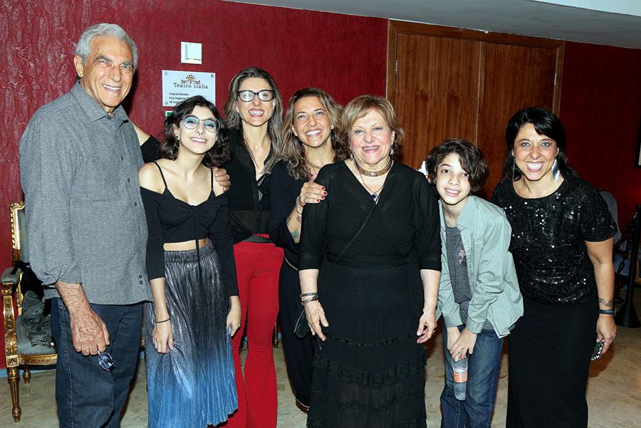 Toda a família Cavalheiro com o pai, Wilson Cavalheiro e Mariah e Giovana e Andréa e a mãe Wanda Cavalheiro e o neto Pedro e Mariane Cavalheiro