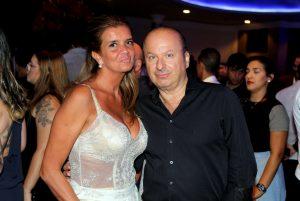 A empresária Gislaine Tru e o jornalista e presidente da Febracos, Ovadia Saadia