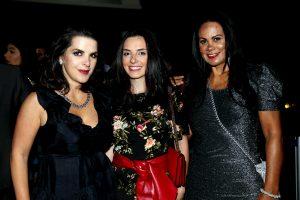 Presença da cantora, Paulah Gauss e a sua irmã, Luiza Gauss e a promoter Jane Nascimento