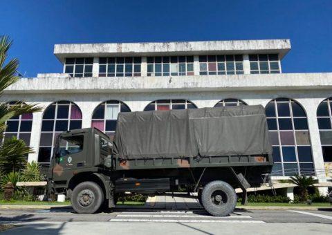 Operação COVID-19: sede do TCE/AL é desinfectada por militares das forças armadas