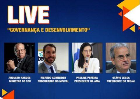 """TCE/AL promove live Governança e Desenvolvimento"""" com participação do Ministro do TCU"""