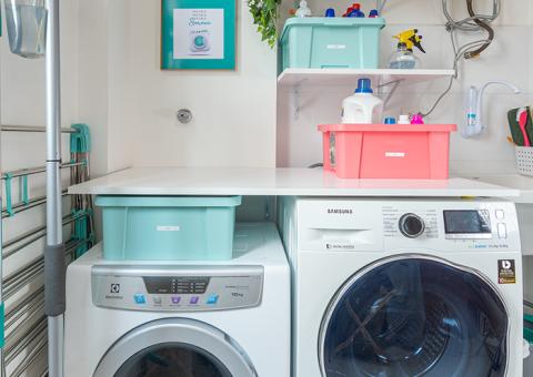 Como ganhar espaço na lavanderia