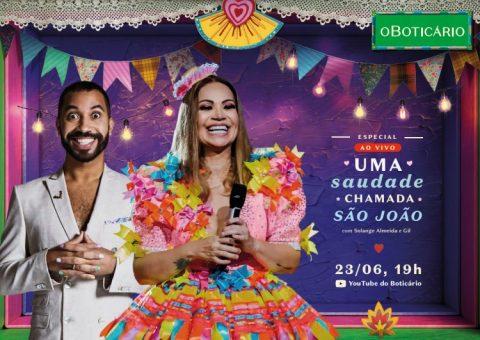 O Boticário traz Gil do BBB para celebrar São João em live show de Solange Almeida