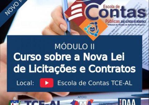 Escola de Contas promove módulo II do curso sobre a nova Lei de Contratos e Licitações