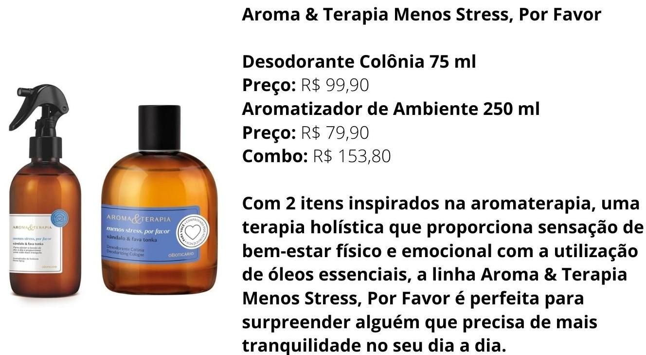 O Boticário inova com nova marca de perfumaria inspirada na aromaterapia, com itens funcionais que proporcionam sensação de calma, energia e relaxamento